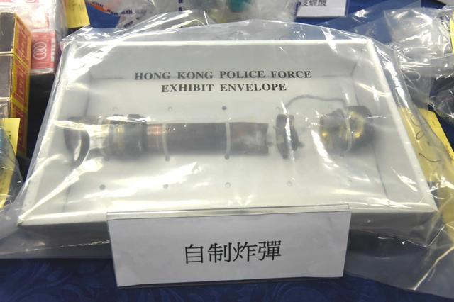 """香港""""土制炸弹案""""港警再拘6人,包括一名幼儿园教师"""