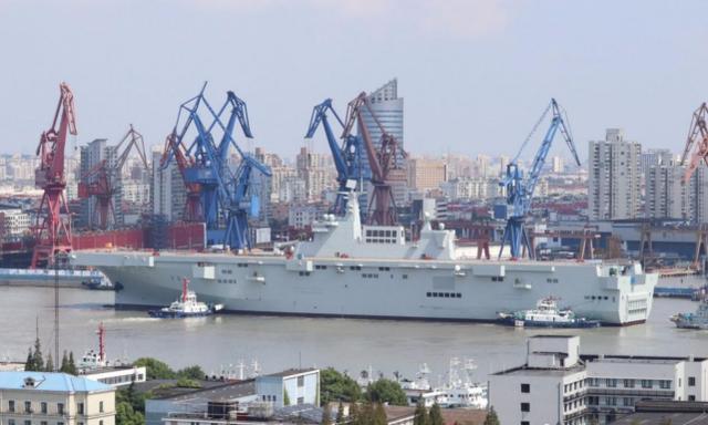 """外媒:中国最近四年造舰""""相当于日本自卫队全部战舰总吨位"""""""