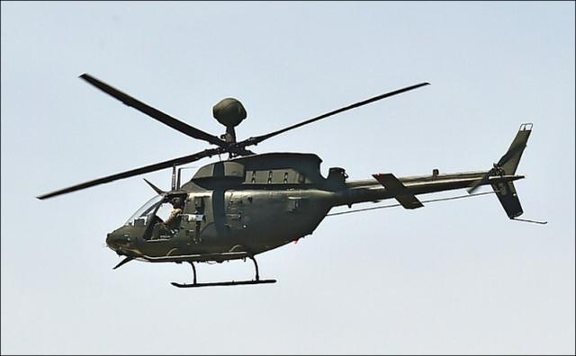 台军一架OH-58D侦察直升机迫降,该基地同型机停飞