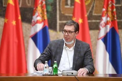 最新发布会上,塞尔维亚总统3次感谢中国