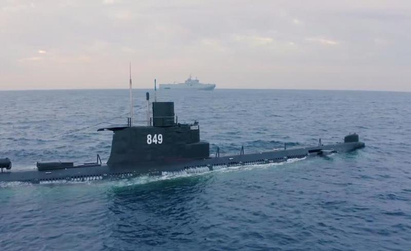 """罕见!埃及海军演习出动中国造潜艇 潜射美制""""鱼叉""""导弹"""