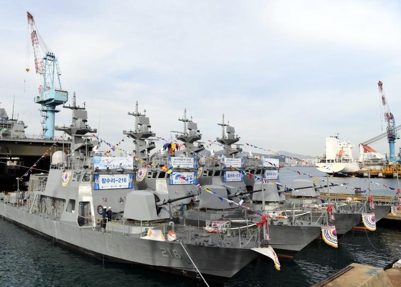 """韩国海军也来""""下饺子"""" 一次服役四艘战舰"""