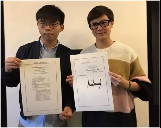 现在汉奸们也开始持证上岗了?!这是生怕全香港人不知道么?