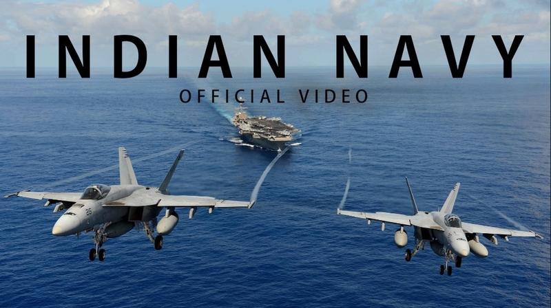 強大得快按不住了!印海軍發新片 看封面以為是美軍