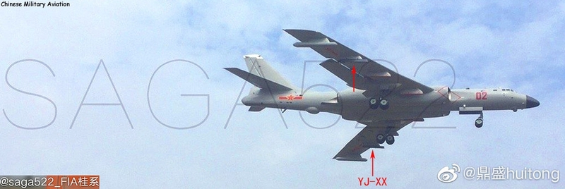 南海舰队再添利器!疑似列装6架轰6J远程导弹攻击机