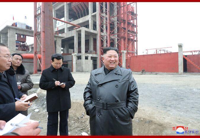 金正恩視察順川磷肥廠建設工地 表示極大滿意