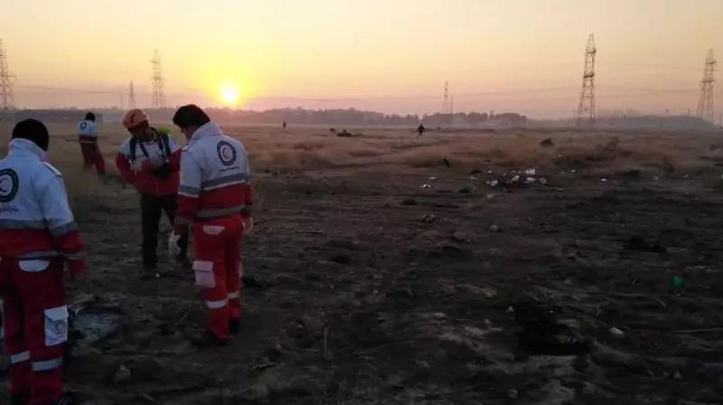 现场视频曝光!在伊朗坠毁的乌克兰客机无人生还