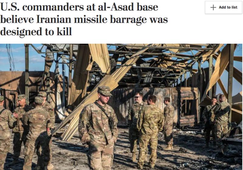 """平安躲过伊朗""""导弹雨""""攻击,美军及联军要感谢萨达姆!"""