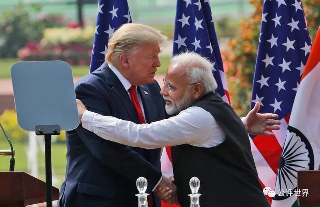 """特朗普访印,两国都打出了""""中国牌"""",雕虫小技而已"""