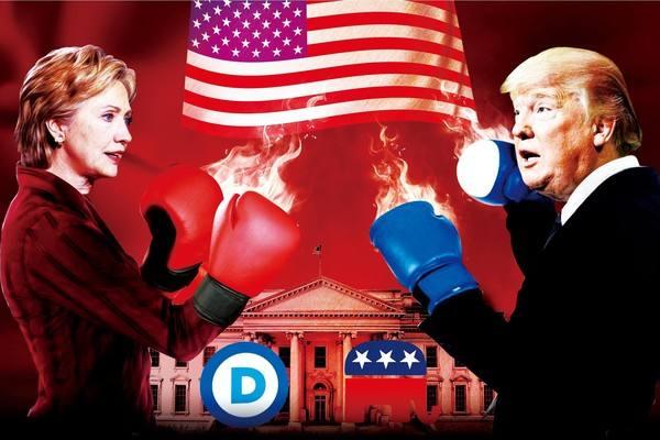 桑德斯根本没料到 美国人会在竞选集会上看见纳粹旗
