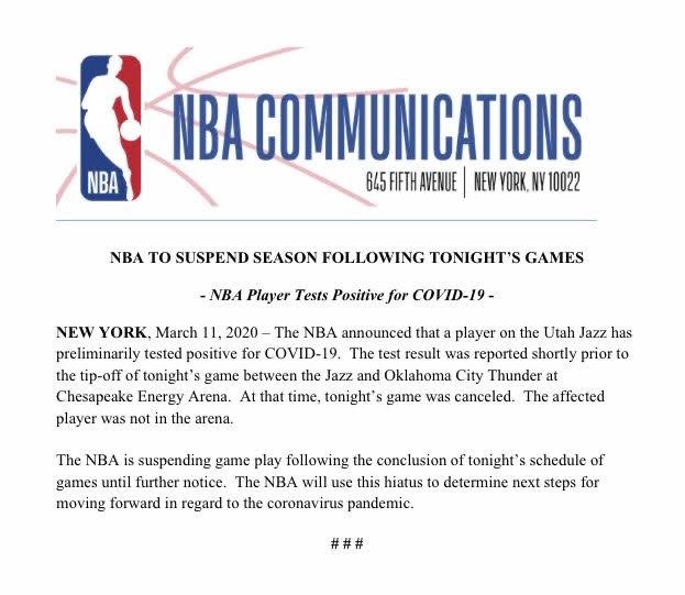 汤姆汉克斯确诊、NBA停摆:美国大规模拉响警报