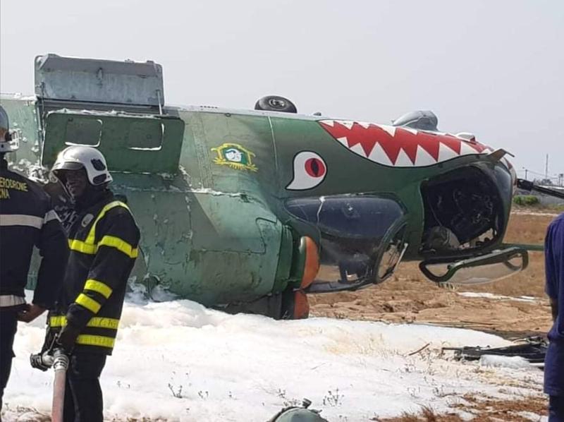 非洲国家兄弟真有能耐 米24武装直升机开到侧翻!