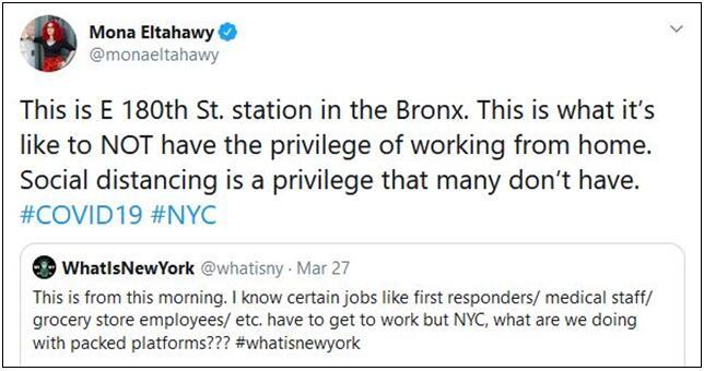 大量纽约本地人被迫冒险挤地铁去工作:死了也只能认倒霉