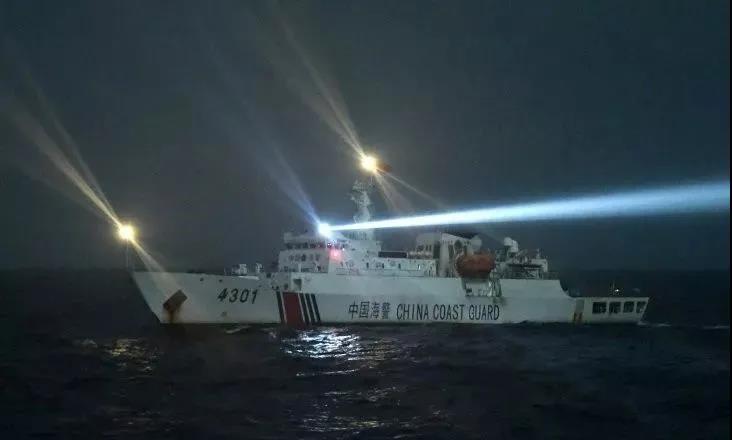 「越南渔船」越南渔船非法进入西沙群岛海域侵渔 冲撞我海警船后沉没