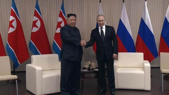 金正恩向普京致电祝贺俄卫国战争胜利75周年