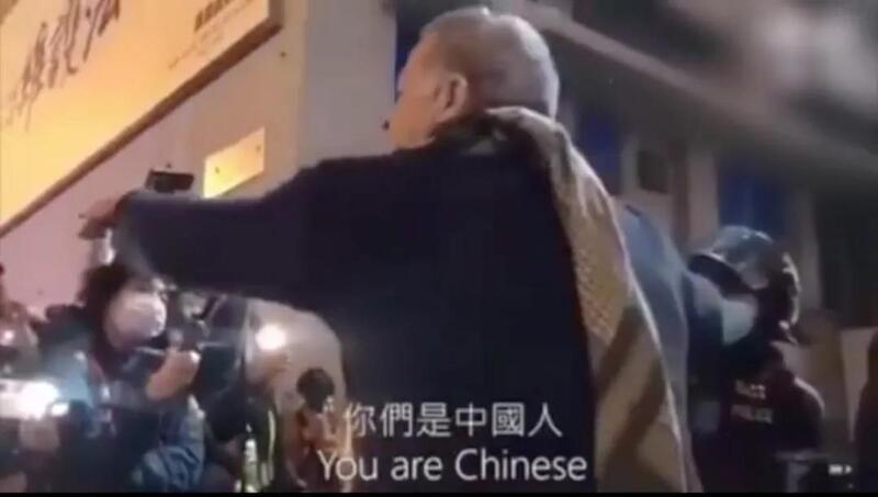 """当街痛斥暴徒!外国男子为""""港版国安法""""点赞"""