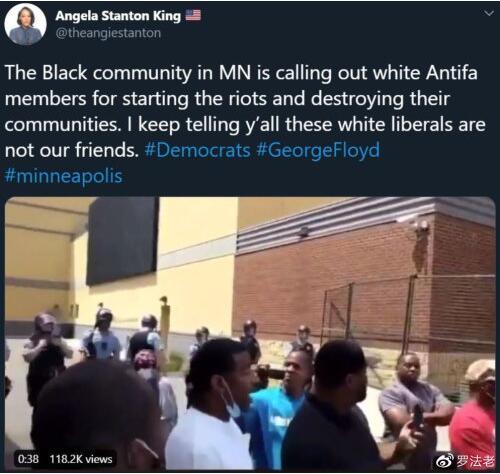 美国的ANTIFA组织,竟直接挑起了街头打砸抢活动