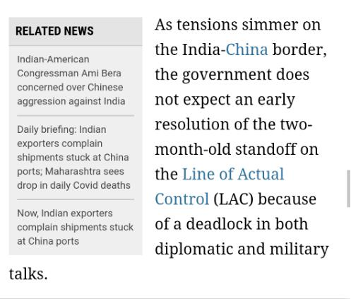 """外媒称""""谈判无效"""",印度已做好与中国长期""""对线""""的准备"""