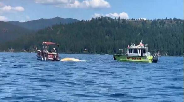 两架飞机在美国上空相撞后坠湖 机上人员全部遇难