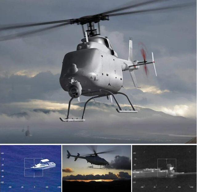 """中国版""""火力侦察兵""""模型现身075,网友推测为WZ6B无人直升机"""