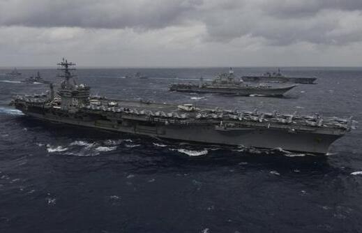 美航母与印军联合军演 印媒:对全国发出最强示威信号!