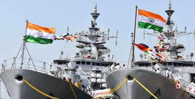 """印度高调宣布美印航母会师!却被发现""""造假"""",没对好口径?"""