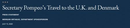 """蓬佩奥赴伦敦大力挑拨之际,中国大使的这句""""警告""""意味深长"""