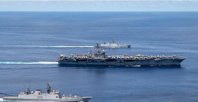 美印海军在印度洋演习 因应大国竞争 美军方再谈战备和军力调整