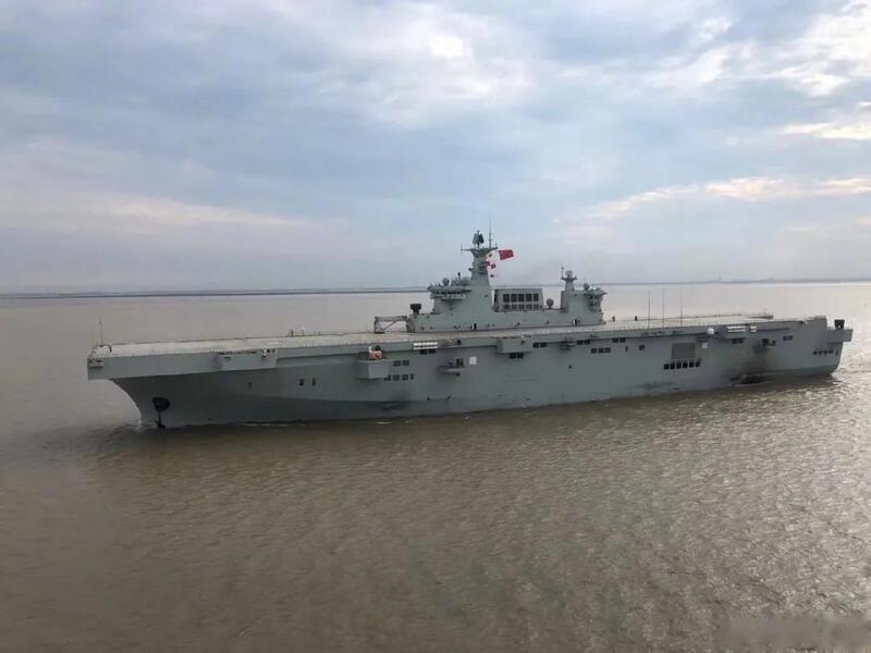 首艘075型两栖攻击舰首航 中国迎来立体登陆时代