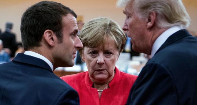 美国退群后还想主导,法德不干了!