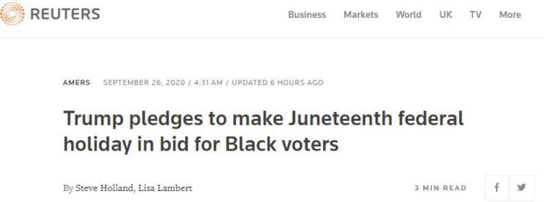 别有用心?特朗普为争取黑人选民连这招都用上了