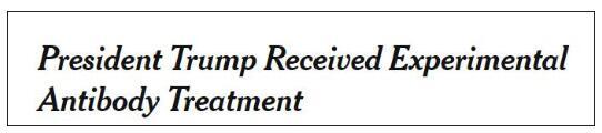 特朗普在尝试各种办法:实验性疗法、瑞德西韦疗法