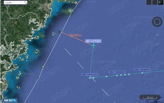 美军机再来挑衅 这次距离浙江海岸最近仅73公里!