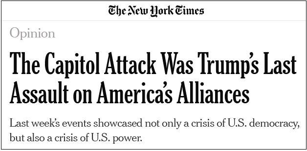"""美媒:美国不仅已陷入混乱 而且还给中俄""""送上了一份大礼"""""""