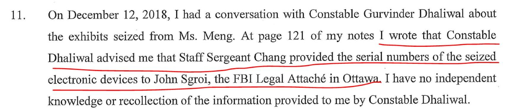 加拿大非法逮捕孟晚舟文件曝光 手机信息被送至FBI