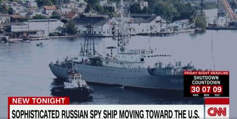 美媒曝俄军舰驶入美海岸国际海域 美官员慌了