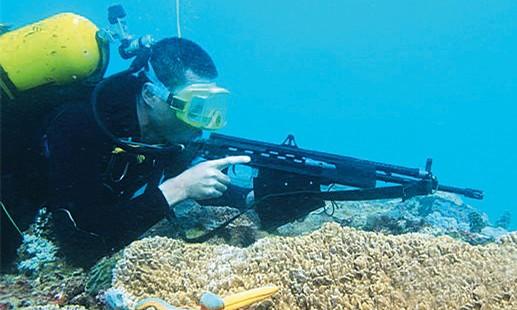 """水下单兵射弹武器让蛙人不再""""肉搏"""""""