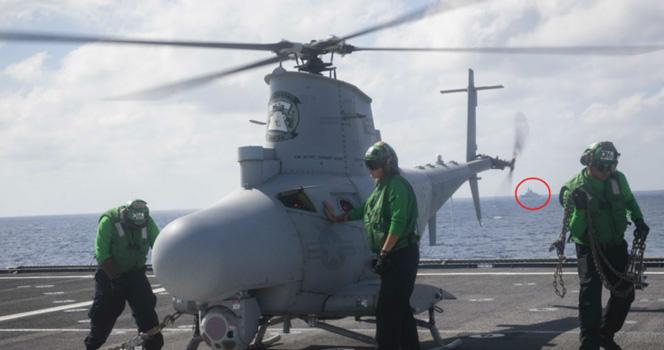 """美軍科幻戰艦在南海搞事兒 中國軍艦""""近身""""監視 一切盡在掌握中"""