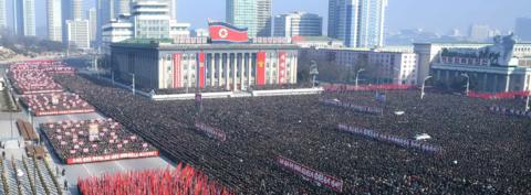 朝鲜举行动员大会 誓言贯彻七届五中全会决议