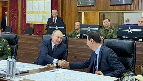 敏感时刻 普京突然到访 叙利亚总统热情地说了句俄语