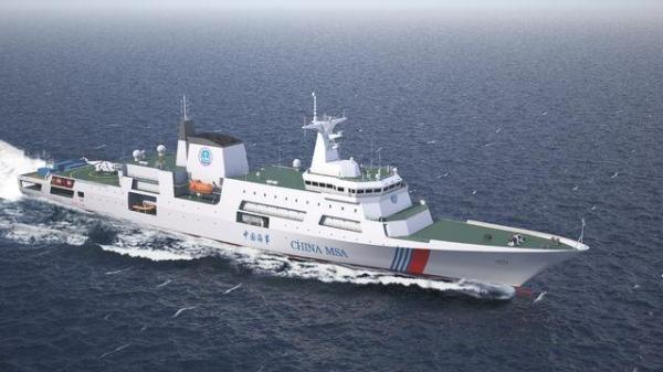 中国新型万吨级巡逻船已开工建造 可载多型直升机