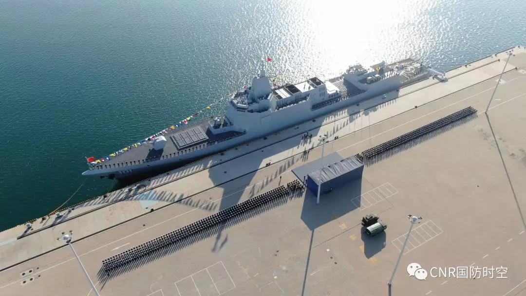 055大驱首舰南昌舰入列!中国海军迎来第四代驱逐舰