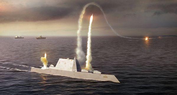 美新型隐身驱逐舰 配备常规洲际导弹1小时内攻击全球?