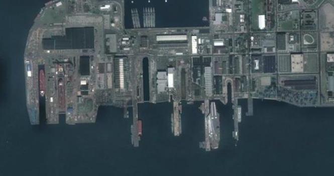 中国卫星下的美军航母,就连周围的浪花都看得一清二楚