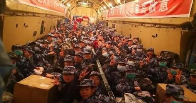 """解放军赶赴武汉 坐的是""""闷罐车""""?真相是 他们搭乘了最强专机"""