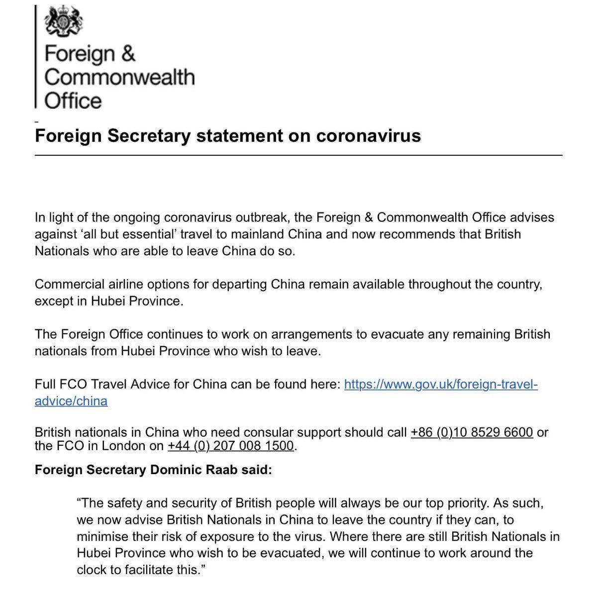 一丘之貉!英国紧跟美国:建议所有在华公民火速离开