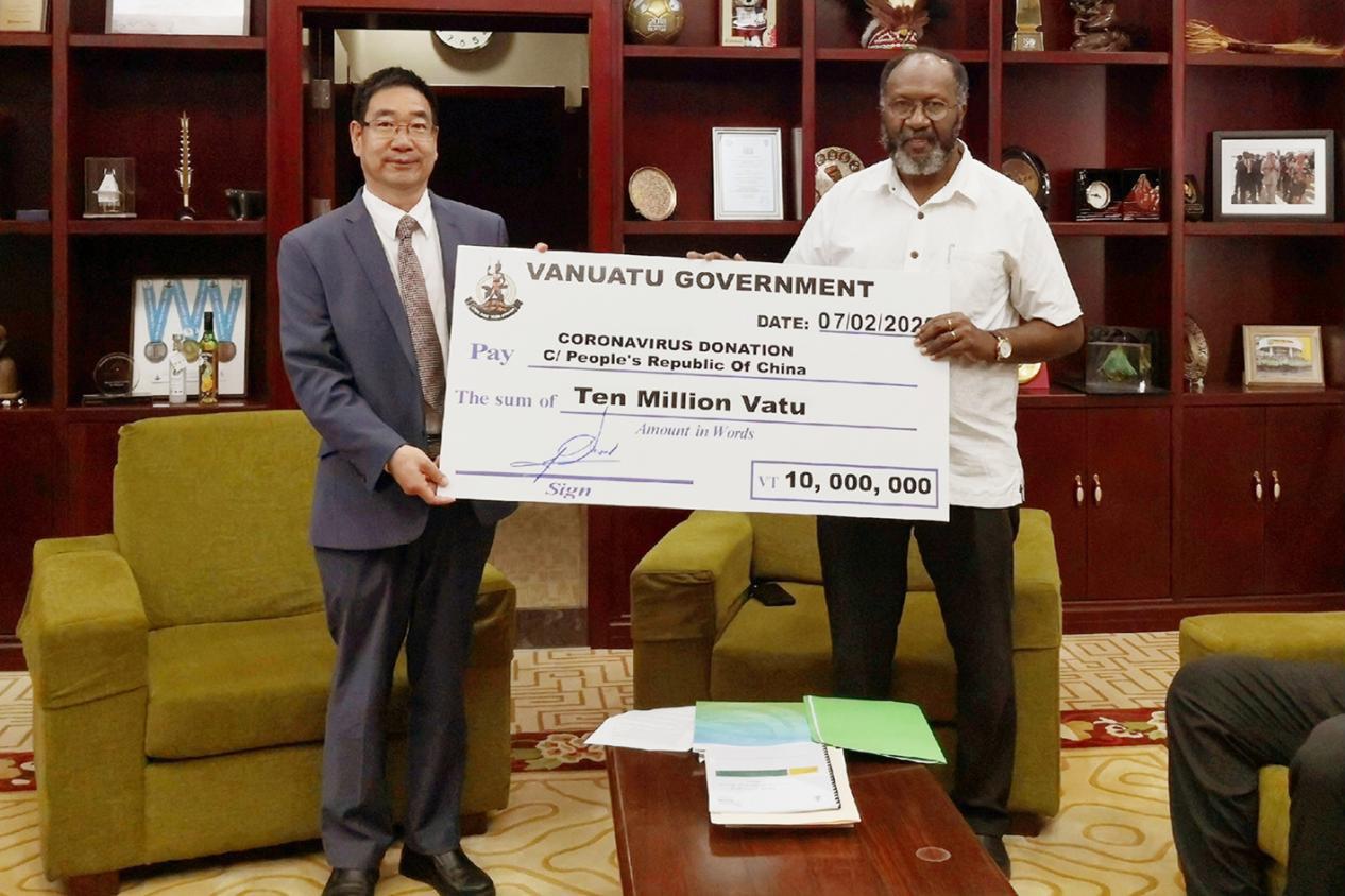 瓦努阿图为抗疫送来现金支票后萨尔维直言:不该怪中国