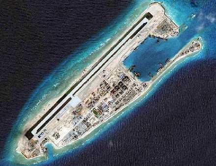 卫星发现永暑礁上大批战机,美孚石油奉劝越南认输