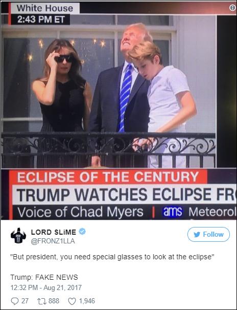 希拉里吐槽特朗普:这男人肉眼看日食,别听他的医疗建议