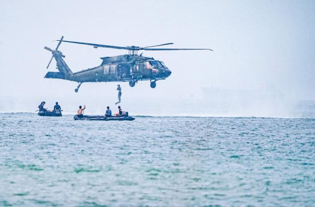 台军罕见公布海空联合特战训练画面,称意在建立海上快速支持能力